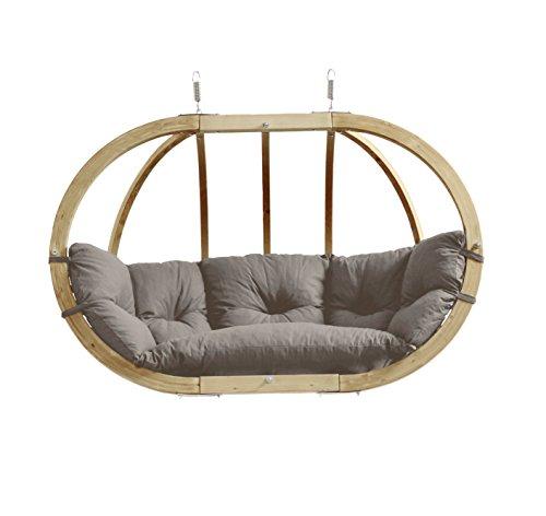 AMAZONAS Hängesessel in edlem Design Globo Royal Chair Taupe Mehrpersonen aus FSC Fichtenholz bis 200 kg in Grau