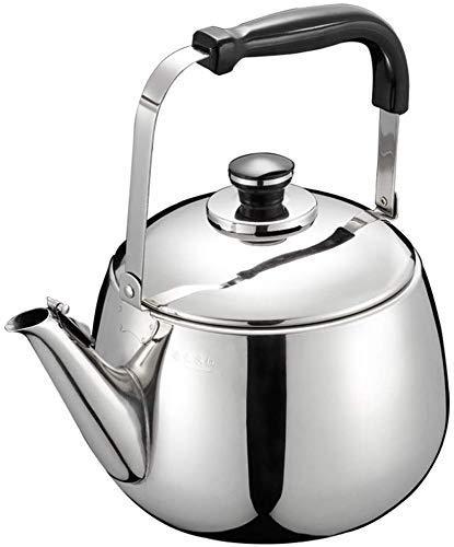 LIPENLI Acero inoxidable 304 cocina de gas de la caldera hervidor hervidor 5L silbato botella de agua caliente automática