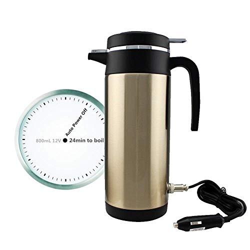 Yosoo 12 V Coche calefaccion Copa Coche automatico de Acero Inoxidable Taza de Agua hirviendo para Coche Viaje, 800 ml