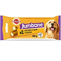 Pedigree Jumbone dog treats, a tasty chew for your canine friend, combining a chewy outer with a flavour filled centre, your dog won't be able to resist a delicious Jumbone Mouth watering flavour with each bite and chew, a Jumbone can help compliment...