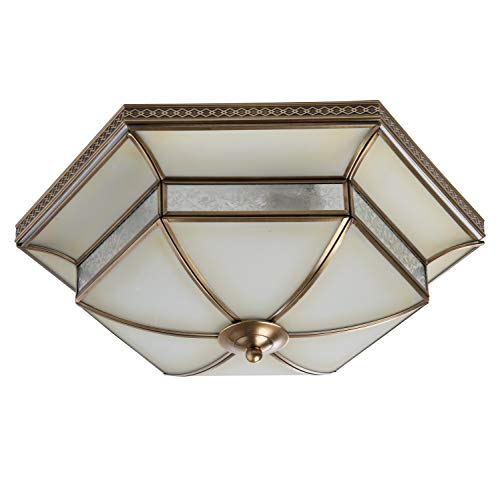 Chiaro 397010204 Deckenlampe Tiffany 4 Flammig Messing Landhaus Wohnzimmer