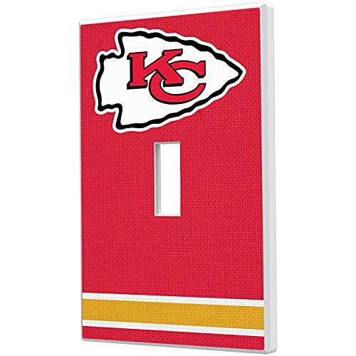 Kansas City Chiefs Stripe Single Toggle Light Switch Plate -  Strategic Printing, 3523725-505
