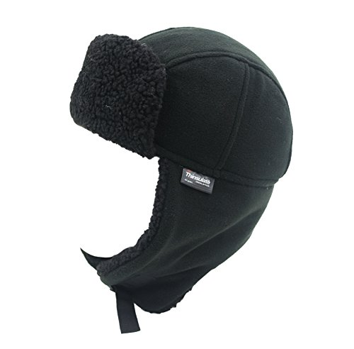 Venture Extreme Waterproof Thermal Fleece Trapper Hat (Black)