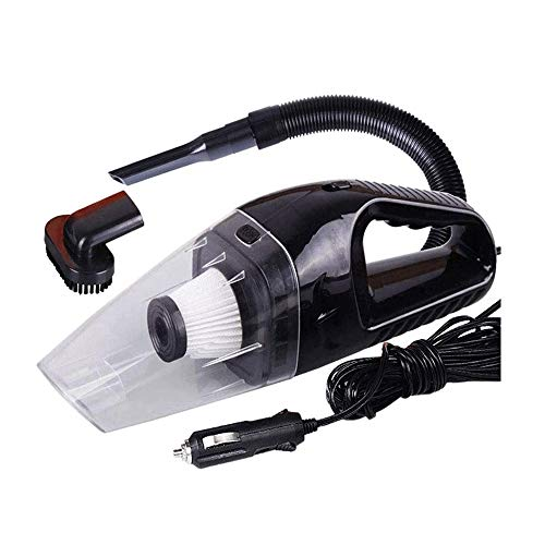 Lpiotyuscxcq Sspiradora de Mano Aspiradora portátil 12V de alta potencia del coche, limpiador de alfombras for el coche 120W 4000Pa con conector mechero de limpieza pelo del animal doméstico, el hollí