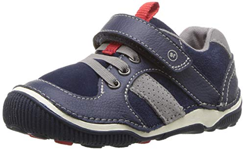 Stride Rite Boy's SRTech Wes Casual Sneaker, Navy, 6 M US Toddler