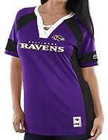 "Baltimore Ravens Women's Majestic NFL""Draft Me 3"" Jersey Top Shirt - Purple"