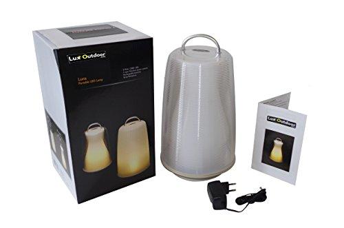 Chalet et Jardin B 806306 Lucioled Froid Lux Lampe Extérieure Plastique Blanc 19,9 x 19,9 x 35,27 cm