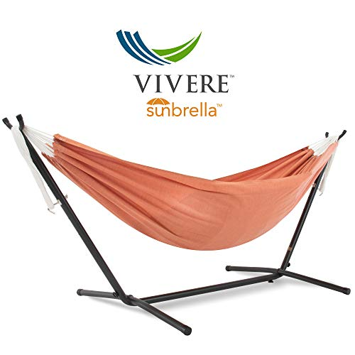 Vivere C8SUNCO Sunbrella®-Hängematte mit Gestell Coral (8Fuß)