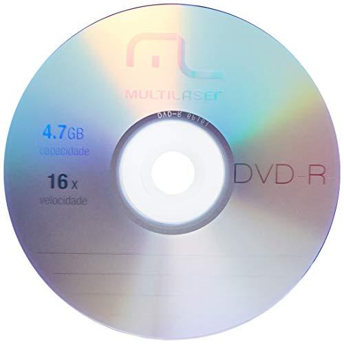 Midia Dvd-R 4.7Gb Multilaser 16X Com 50 Shrink Dv060/ - DV061