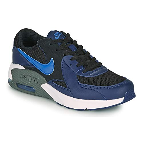 Nike Air MAX Excee (GS), Zapatillas, Black/Signal Blue-Blue Void-Iron Grey, 36 EU