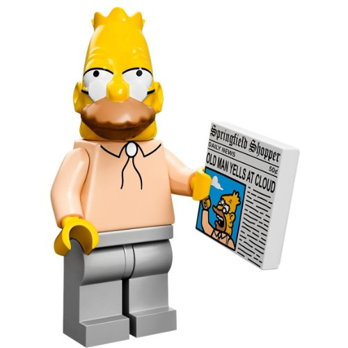 LEGO 71005 - Minifigur Grandpa Simpson aus der Sammelfiguren-Serie The Simpsons