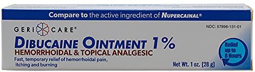 GeriCare Dibucaine Hemorroid Ointment 1%   Hemorroidal & Topical Analgesic (1oz)