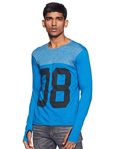 Amazon Brand - Inkast Denim Co. Men's Printed Regular fit T-Shirt (SS20INKTEE13-A_Blue L)