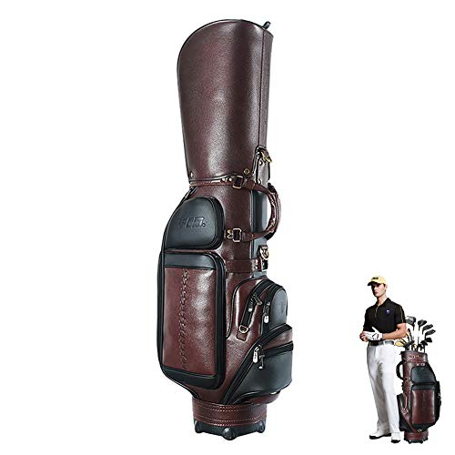 Golfuitrusting - golftas - golftas lederen tas - golfclub tas lederen tas