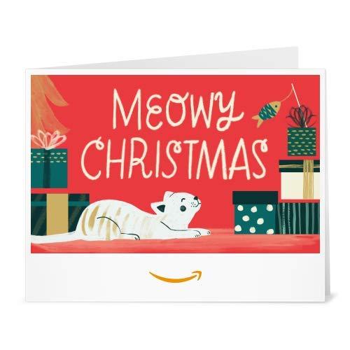 Amazon Gift Card - Print - Meowy Christmas