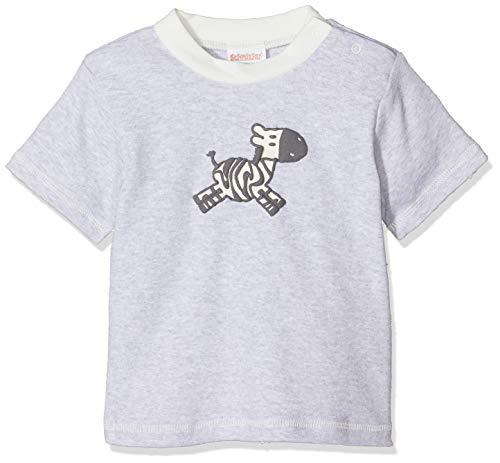 Schnizler T- Shirt Interlock Zebra, Gris mélangé (37), 3 Mois Bébé garçon