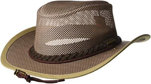 Stetson Men's Mesh Safari Hat, Mushroom, X-Large