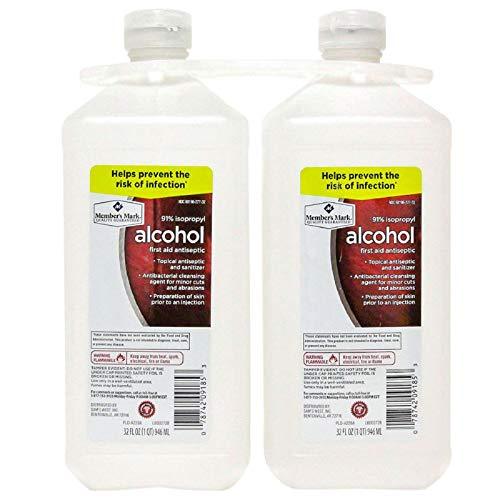 Member's Mark 91% Isopropyl Alcohol (32 fl. oz., 2 pk.)