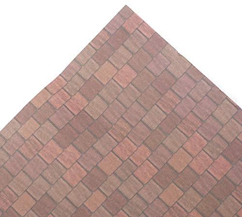 Melody Jane Puppenhaus Gealtert Rot Dach Blatt Miniatur Druck Außen Lang