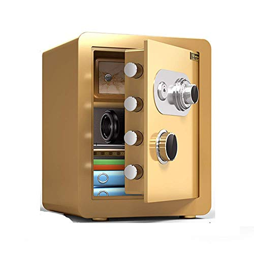Cabinet Safes, Steel Mechanical Anti-theft Password Key Double Protection Password Box for Family Hotel Supermarket Storage Cash Jewelry Valuables Strongbox (Color : Style3)