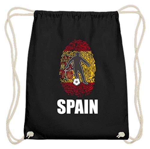 WM Spanien Trikot Russland 2018 Für Spanier Fans Fußball Fingerabdruck National Design - Baumwoll Gymsac