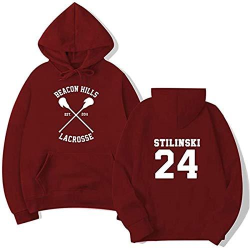 FAITH WING Felpa con Cappuccio della Squadra di Lacrosse Beacon Hills Teen Wolf McCall Stilinski Lahey Felpa con Cappuccio Unisex Hooded Hoodies Sweatshirt