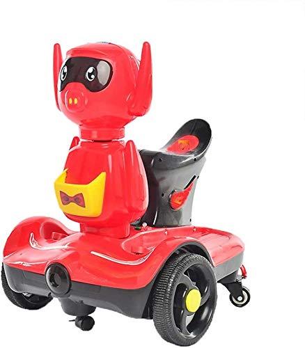 Bck Bicicleta de equilibrio para niños de 2 a 10 años de antigüedad Balance eléctrico Scooter con LED Luces y altavoces de colores, montar en juguete, doble rueda Dual-Drive Control Remoto Dual Dual D
