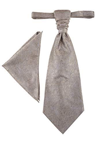 Wilvorst Plastron zur Hochzeitsweste, bronze, mit glänzenden Ranken, Slimline