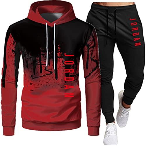 Conjunto de chándal para hombre nuevo top Bottoms Jogging Zip Joggers Gym Sport Sweat Suit Pantalones