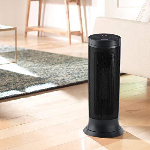 Honeywell Slim Ceramic Tower Heater, Large Room, Black