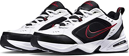Nike Herren Air Monarch IV Fitnessschuhe, White Black Varsity Red, 43 EU