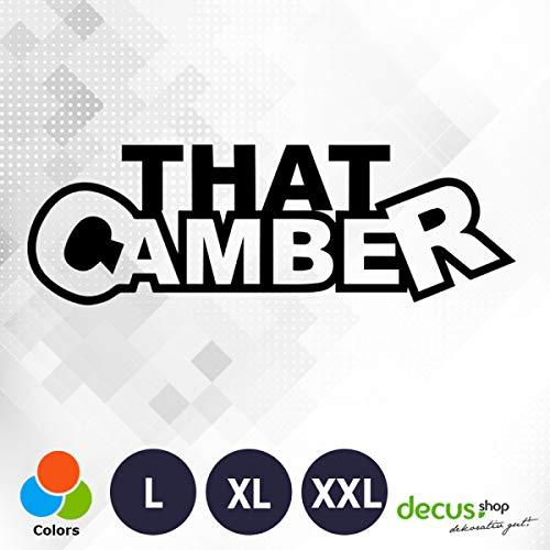 Decus That Camber XL 0117 (schwarz) // Sticker OEM JDM Style Aufkleber