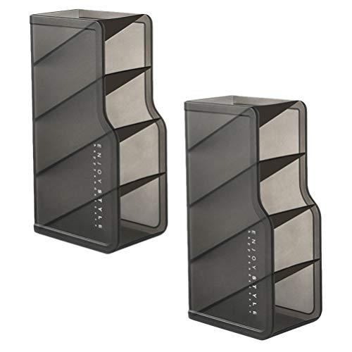 Cabilock Lipstick Organizer Tower Lip Gloss Storage Holder Stand Makeup Cosmetics Vanity And Dresser Display Joyas Y Cajas de Cosméticos para Niña Mujer Almacenamiento Display Cube 2Pcs