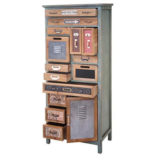 Mendler Apotheker-Schrank HWC-A43, Kommode, Tanne Holz massiv Vintage Shabby-Look 138x57x32cm