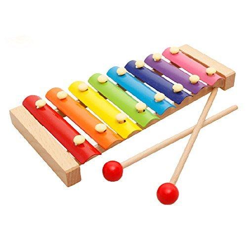 XLKJ Xilofono, Juguete de Xilófono, Xilofono Infantil Instrumento Musical de Madera para Regalos Cumpleaños de Niños