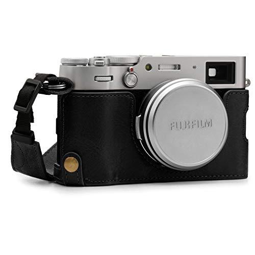 MegaGear Ever Ready MG1894 - Funda de Piel para cámara Fujifilm X100V, Color Negro