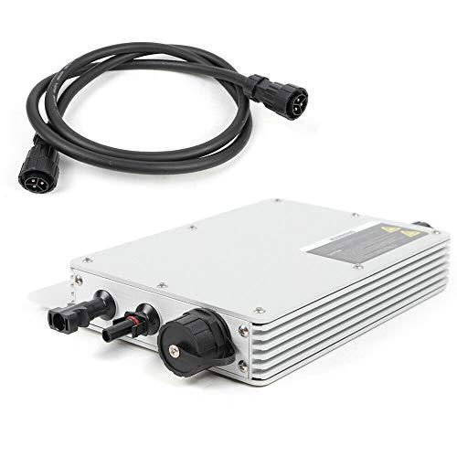 Spannungswandler IP65 Wasserdicht Wechselrichter Micro Solar Photovoltaik Wechselrichter Kit für Power Generation System, Hochleistungs-MPPT-Funktion (WVC-600W)