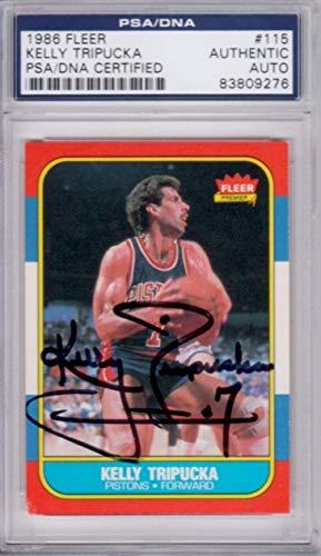%32 OFF! Kelly Tripucka Detroit Pistons 1986 Fleer #115 Signed AUTOGRAPH 83809276 - PSA/DNA Certifie...