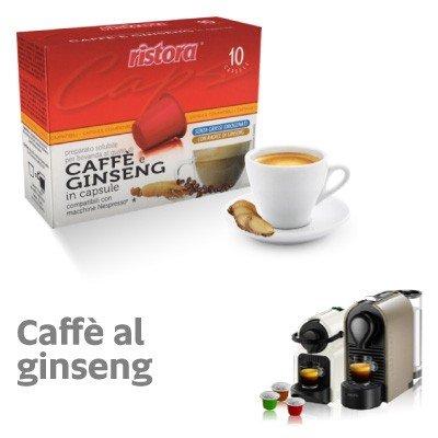 Nespresso kompatible 100Kapseln Kaffee und Ginseng Ristora