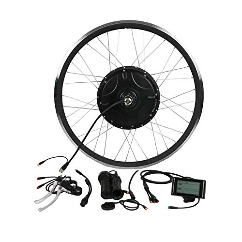 theebikemotor Waterproof 36V48V250W-1500w Built-In Programmable Controller Electric Bike Kit (26' Rear Wheel + Disc Brake, SW900 LCD Display)