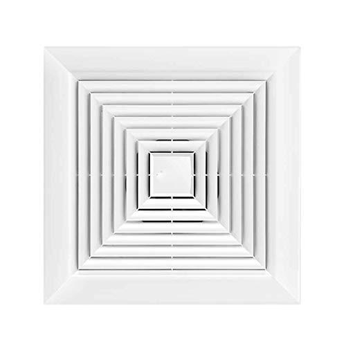 LXZDZ Ventilador de ventilación a través de la pared, extractor cuadrado blanco, extractor de baño silencioso (Size : 326 * 326mm)