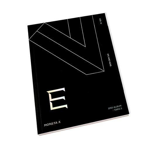 MONSTA X 2nd Album : TAKE.2 - We Are Here [ IV ver. ] CD + Photobook + Photocards + FREE GIFT / K-pop Sealed