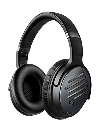 Mpow Noise Cancelling Headphones, Bluetooth Headphones Over Ear with CVC 6.0 Microphone, Hi-Fi Deep Bass, Quick Charge Wireless Headphones for TV, Travel, Online Class, Home Office