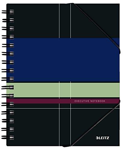 Leitz 44500000 Executive Be Mobile Collegeblock A5 kariert, spiralgebunden mit PP Einband, mehrfarbig