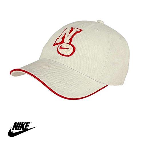 Nike Baseballkappe mit Aufnäher, naturfarben, rot, für Jugendliche, Teenager, Damen