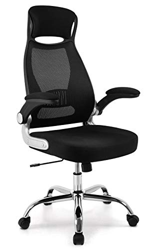 IntimaTe WM Heart Ergonomic Office Computer Chair, High-Back Swivel Mesh Chair, Padded Desk Chair With Foldable Arms & Head Support