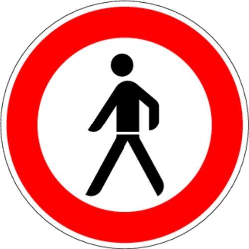 LEMAX® Schild Alu Verbot für Fußgänger Verkehrszeichen 259 420mm reflektierend