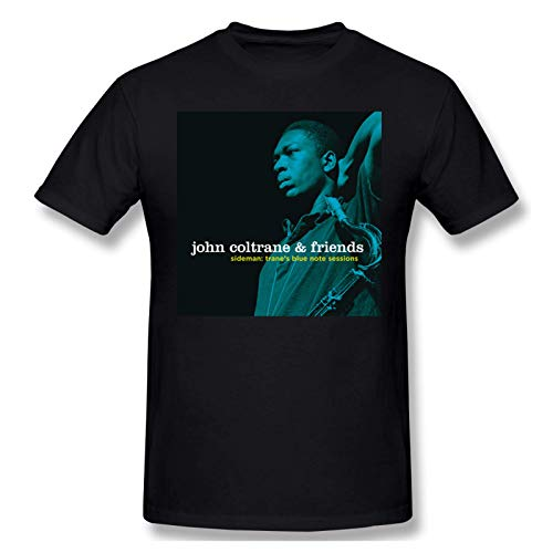 IUBBKI Camiseta básica de Manga Corta para Hombre Mens Print with John Coltrane Fashion Short Sleeve T-Shirt