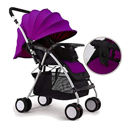 Fantastic Prices! Yyqtyec Baby Stroller Multi-Position Reclining Seat, Extended Canopy, Easy One Han...
