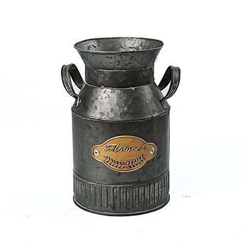ZCFGUOI Juego de 2 jarrones de bronce antiguo, 20,8 cm de alto bronce antiguo para arreglos florales secos para regalo de boda, spa, Vigilia aromaterapia Memorial